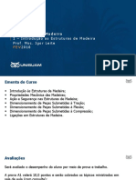 1 - Introdução as Estruturas de Madeira