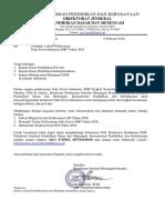 Surat Petunjuk Teknis Pelaksanaan Gala Siswa Indonesia (Gsi) Smp 2018