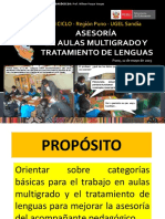 AULAS MULTIGRADO Y TRATAMIENTO DE LENGUAS