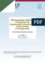 """6º Curso a distancia """"Hidrogeología Aplicada a Proyectos de Cooperación Internacional al Desarrollo y Emergencias""""  (2019)"""