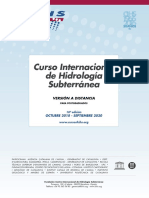 18º Curso Internacional de Hidrología Subterránea, versión a distancia (2018-2020)