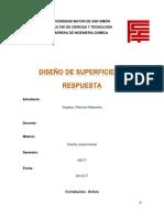 Diseño de Superficie de Respuesta