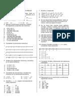 Plan de Mejoramiento de Matemáticas Cursos 704 y 705