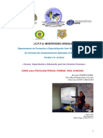 Programa Curso Psicologo Perito Forense Icpfu 2018 Nivel Avanzado
