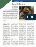 """Josep Boira, """"La Sal de La Tierra"""" en revista """"Palabra"""", julio 2013, pp. 70-72"""