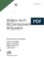 Manual de Instruçoes Sony Mhc-gtx777-787-888 Lbt-ztx7