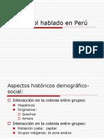 El Español Hablado en Peru
