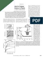 Hydrogel Control of Xylem Hydraulic Resistance in Plants