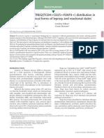 T regulatory cells (TREG)(TCD4+CD25+FOXP3+) distribution in leprosy