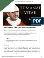 La Humanae Vitae ¿Una Encíclica Profética_ - El Teólogo Responde - IVE