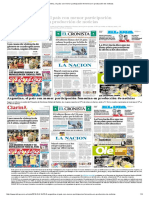 Argentina, El País Con Menor Participación Femenina en Producción de Noticias
