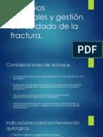 Principios Generales y Gestión Del Cuidado Fracturas