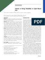 Drug Solubility