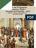 Libro de Programas 2018-I