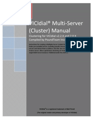 Vicidial Multi-Server Manual by Poundteam v1 1 | My Sql | File