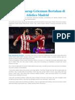 Costa Berharap Griezman Bertahan Di Atletico Madrid