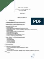 Tematica Si Bibliografia Pentru Concursul de Admitere La Scoala Nationala de Grefieri 2018-03-20