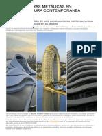 Estructuras Metálicas en Arquitectura Contemporánea