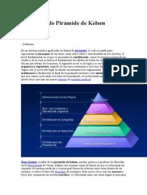 Definición De Pirámide De Kelsen Constitución Legislación