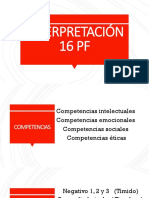 INTERPRETACIÓN 16 PF