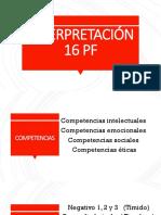INTERPRETACIÓN 16 PF