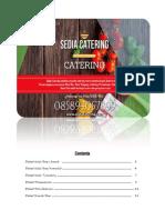 SediaCatering PriceList 2018