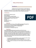 tiffany dewalt assistant principal resume weebly