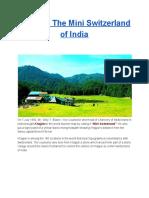 Khajjiar - the Mini Switzerland of India