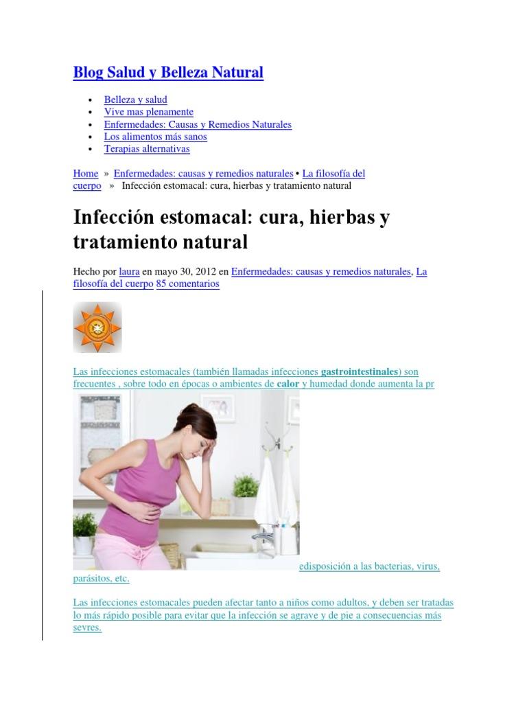 Tratamiento de infeccion estomacal en ninos