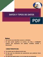 Tema 1 - Datos y Tipos de Datos