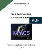 Guia Rapida Para Software K_pacs - Aplicacion de Software