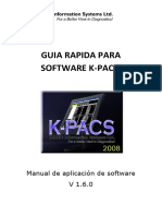 Guia Rapida Para Software K_pacs - Aplicacion de Software