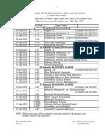 C 09 Mar Apr 2018 Time Tables