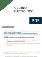 EQULIBRIO HIDROELECTROLITICO