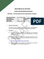 EPM HR2 - Job DescriptionPerson Spec Template