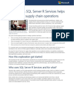 Ten Ways SQL Server R Services Optimise Supply Chain Operations
