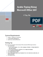 Arabic Typing Using Microsoft Office 2007