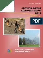 Statistik Daerah Kabupaten Maros 2016