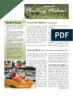 Planting Malawi September 2010 newsletter