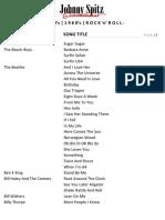 rock n roll song list mar 18