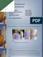 PPT Seri Deodorant Antiperspirant