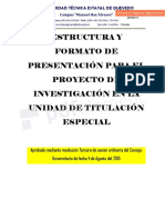 Estructura y Formato de Presentación Proyecto de Investigación Ute (Ocas)-Copiado