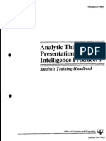 6523961 Analytic Thinking and Presentation for Intelligence Analysis Training Handbook CIA 88pp
