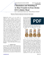 Numerical Simulation and Modeling of UNSA91060 for Heat Transfer in Four-Stroke ICE Cylinder Head