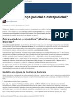 O Que é Cobrança Judicial e Extrajudicial