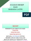Kuliah Resep Tgl 2 Oktober 2015