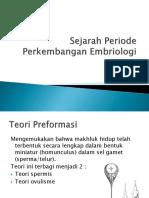 Sejarah Periode Perkembangan Embriologi