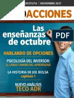 Revista Sólo Acciones Noviembre 2017