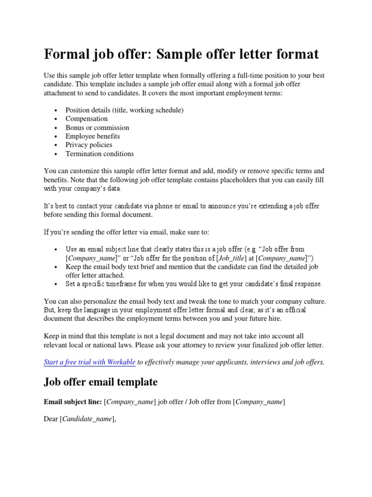 New Hire Offer Letter from imgv2-1-f.scribdassets.com