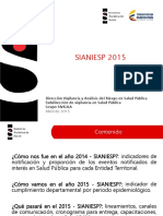 Primera Presentacion Sianiesp 2015